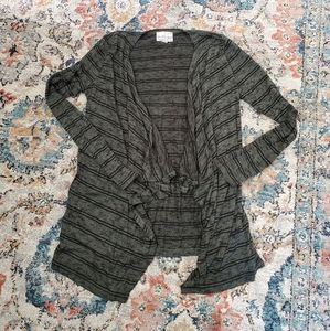Super soft, open cardigan.